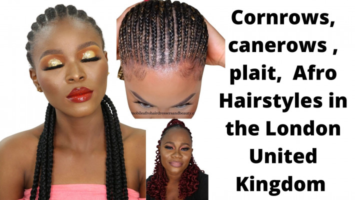 Cornrows, canerows , plait,  Afro Hairstyles in the London United Kingdom